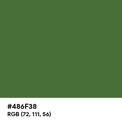 Grass Green (Hex code: 486F38) Thumbnail