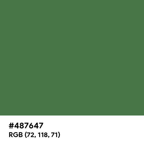 Fern Green (Hex code: 487647) Thumbnail