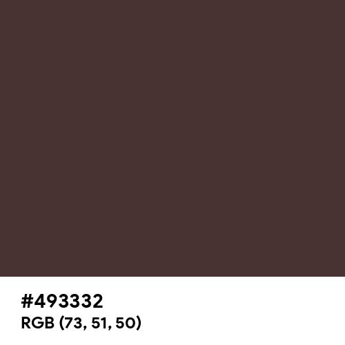 Cookie Dark Brown (Hex code: 493332) Thumbnail