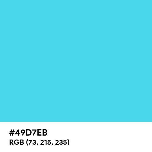Turquoise (Hex code: 49D7EB) Thumbnail