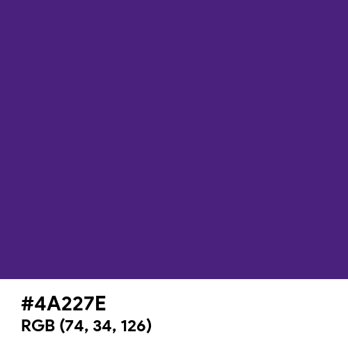 Spanish Violet (Hex code: 4A227E) Thumbnail