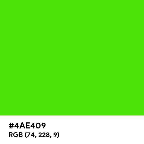Chlorophyll Green (Hex code: 4AE409) Thumbnail