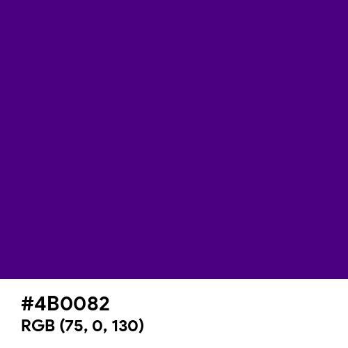 Indigo (Hex code: 4B0082) Thumbnail