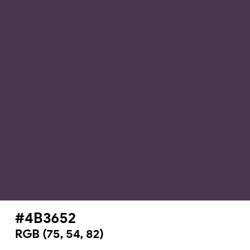 Old Purple (Hex code: 4B3652) Thumbnail