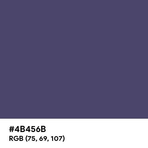 Muted Navy Blue (Hex code: 4B456B) Thumbnail