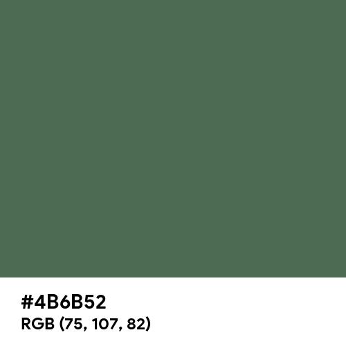 Feldgrau (Hex code: 4B6B52) Thumbnail