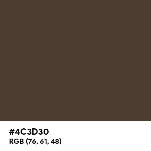 海松茶 (Mirucha) (Hex code: 4C3D30) Thumbnail