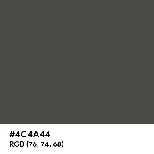 Umbra Grey (RAL) (Hex code: 4C4A44) Thumbnail