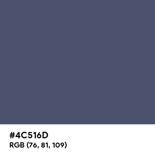 Independence (Hex code: 4C516D) Thumbnail