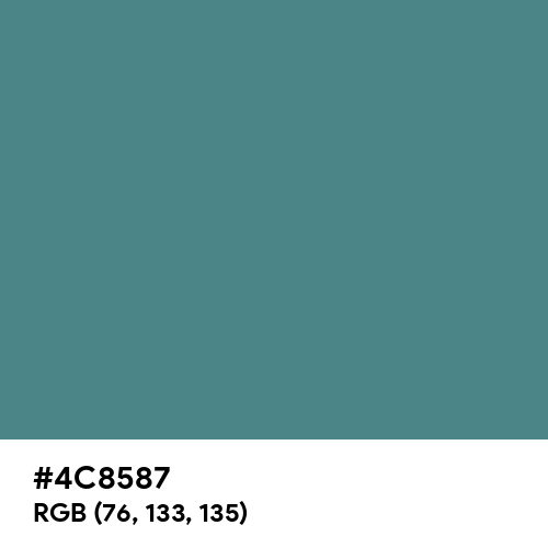 Wintergreen Dream (Hex code: 4C8587) Thumbnail