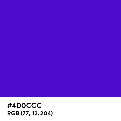 Interdimensional Blue (Hex code: 4D0CCC) Thumbnail