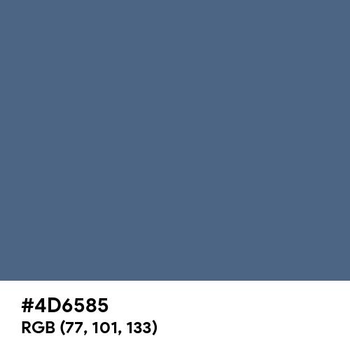 Dark Electric Blue (Hex code: 4D6585) Thumbnail