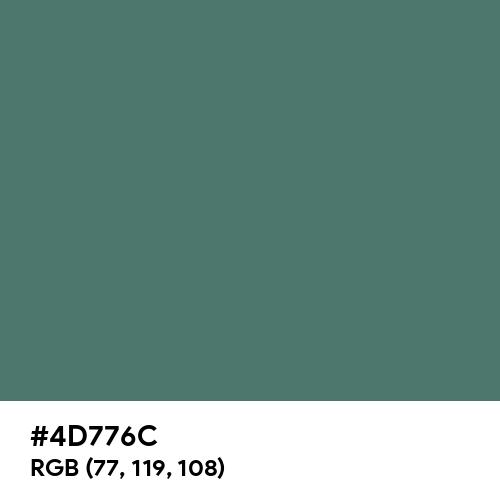 Hooker's Green (Hex code: 4D776C) Thumbnail