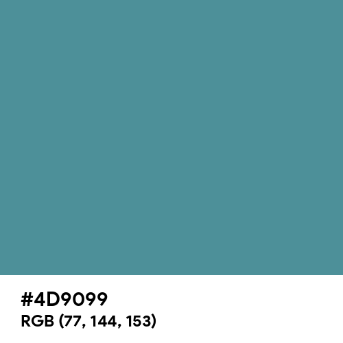 Rackley (Hex code: 4D9099) Thumbnail