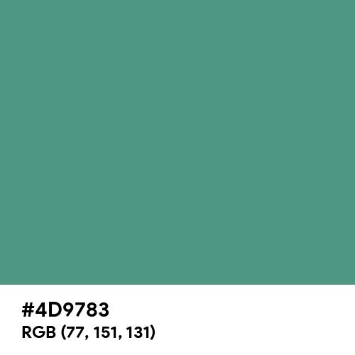 Wintergreen Dream (Hex code: 4D9783) Thumbnail