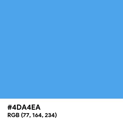 Pretty Blue (Hex code: 4DA4EA) Thumbnail