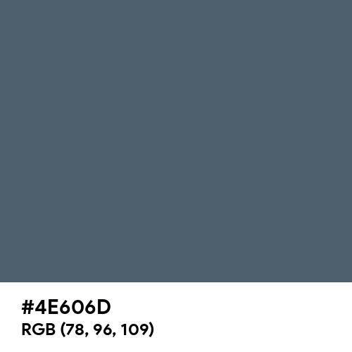Trekking Blue (Hex code: 4E606D) Thumbnail