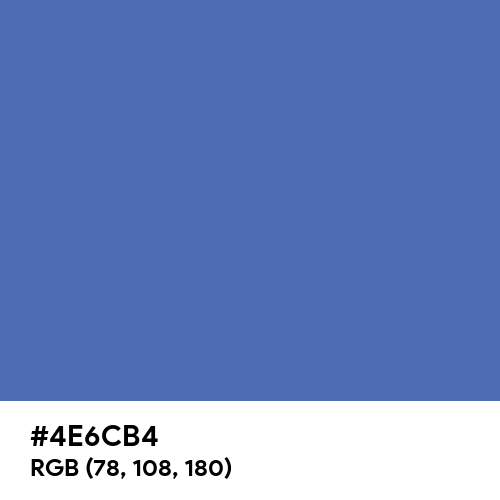 Mountain Blue (Hex code: 4E6CB4) Thumbnail