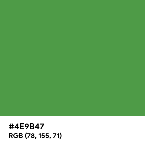 May Green (Hex code: 4E9B47) Thumbnail
