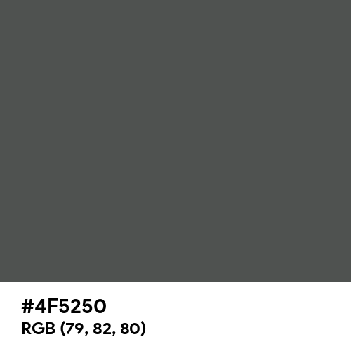 Traffic Grey B (RAL) (Hex code: 4F5250) Thumbnail