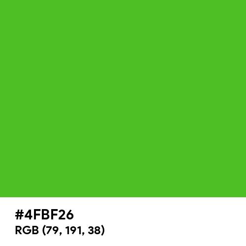 Perfect Green (Hex code: 4FBF26) Thumbnail