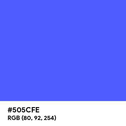Ultramarine Blue (Hex code: 505CFE) Thumbnail