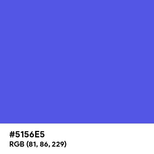 Happy Blue (Hex code: 5156E5) Thumbnail