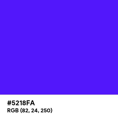Han Purple (Hex code: 5218FA) Thumbnail