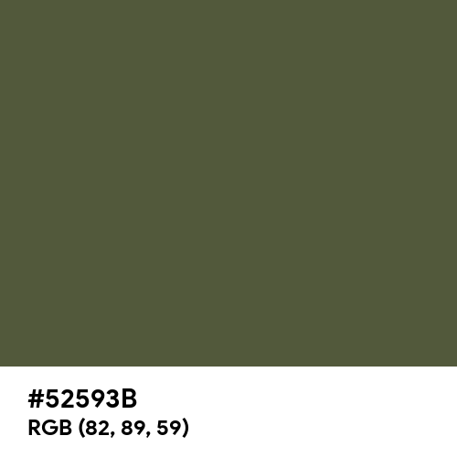 青丹 (Aoni) (Hex code: 52593B) Thumbnail