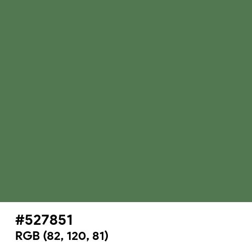 Fern Green (Hex code: 527851) Thumbnail