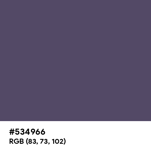 Independence (Hex code: 534966) Thumbnail