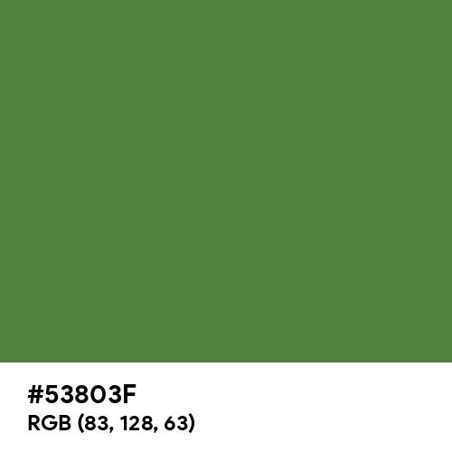 May Green (Hex code: 53803F) Thumbnail