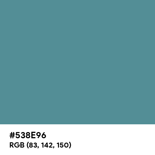 Steel Teal (Hex code: 538E96) Thumbnail