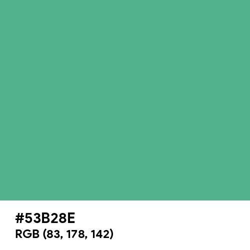 Ocean Green (Hex code: 53B28E) Thumbnail