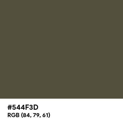 Camouflage Olive (Hex code: 544F3D) Thumbnail