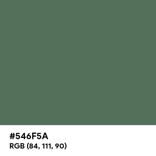 Axolotl (Hex code: 546F5A) Thumbnail