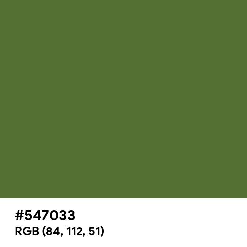Dark Olive Green (Hex code: 547033) Thumbnail