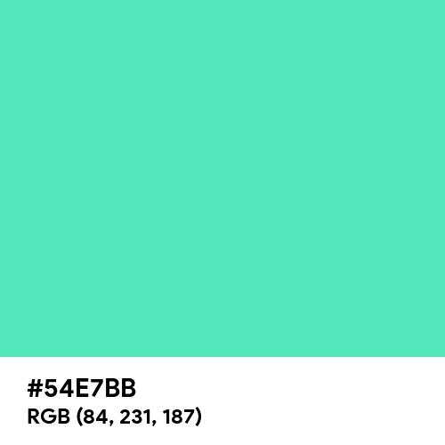 Medium Aquamarine (Hex code: 54E7BB) Thumbnail