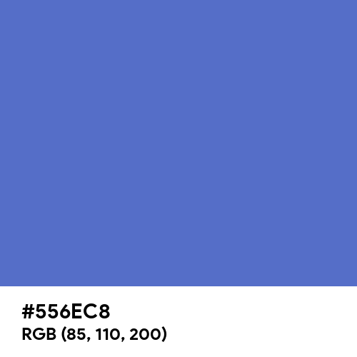 Han Blue (Hex code: 556EC8) Thumbnail