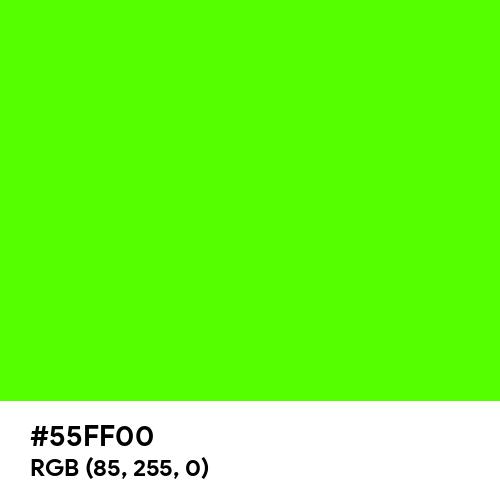 Chlorophyll Green (Hex code: 55FF00) Thumbnail
