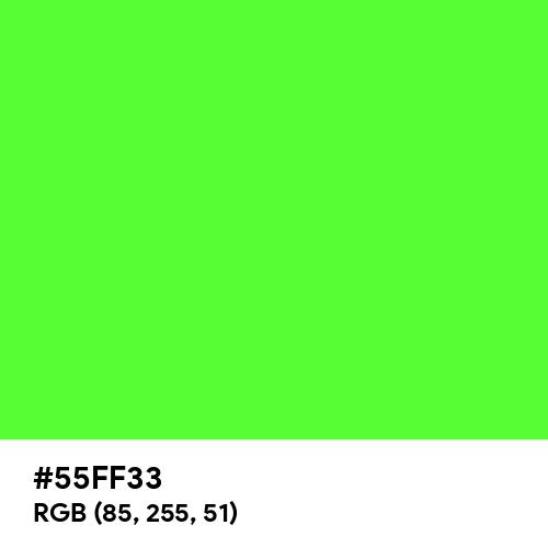 Shocking Green (Hex code: 55FF33) Thumbnail