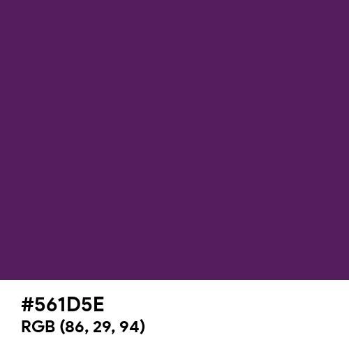 Royal Purple (Hex code: 561D5E) Thumbnail