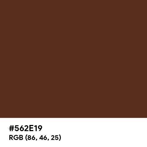 Dark Coffee (Hex code: 562E19) Thumbnail
