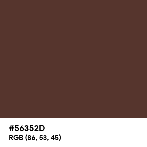 Chocolate Fondant (Hex code: 56352D) Thumbnail