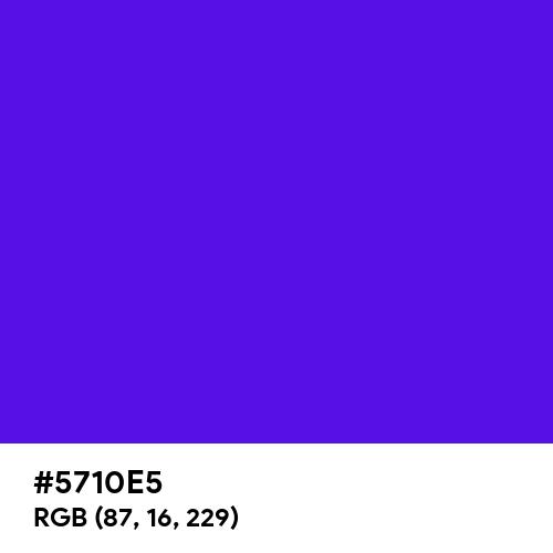 Blue Indigo (Hex code: 5710E5) Thumbnail