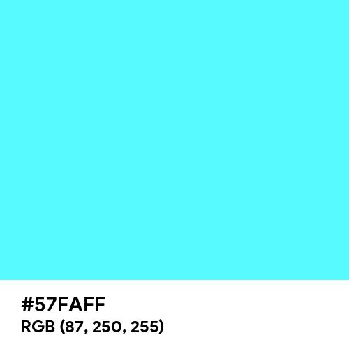 Bright Aqua (Hex code: 57FAFF) Thumbnail