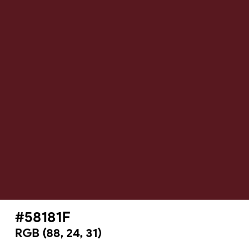 Wine Red (Hex code: 58181F) Thumbnail