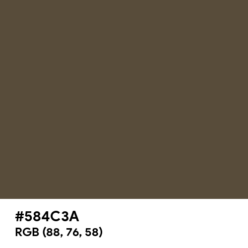 Camouflage Brown (Hex code: 584C3A) Thumbnail