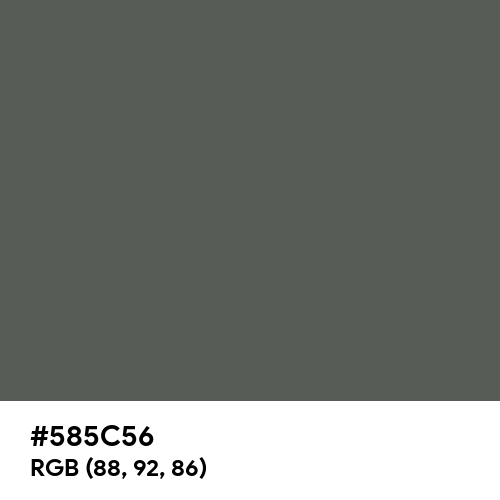 Tarpaulin Grey (RAL) (Hex code: 585C56) Thumbnail