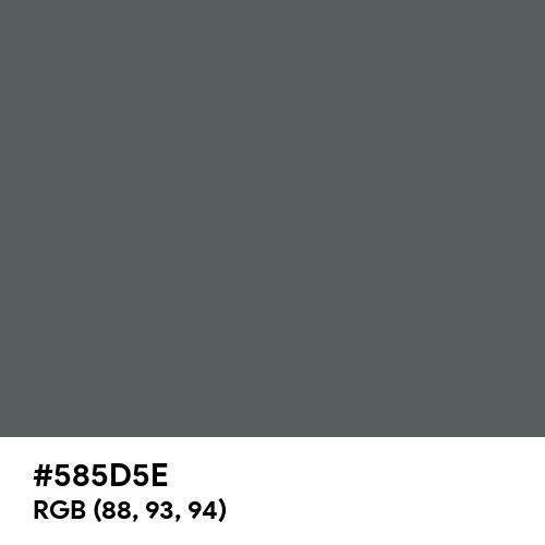 Basalt Grey (RAL) (Hex code: 585D5E) Thumbnail